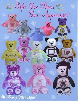 Beary Thoughtful bears for all occassions